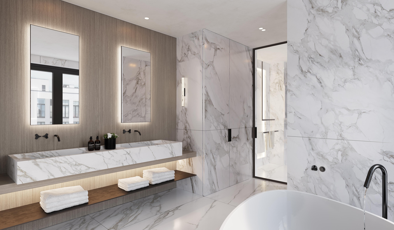 Minimalistic bathroom concept