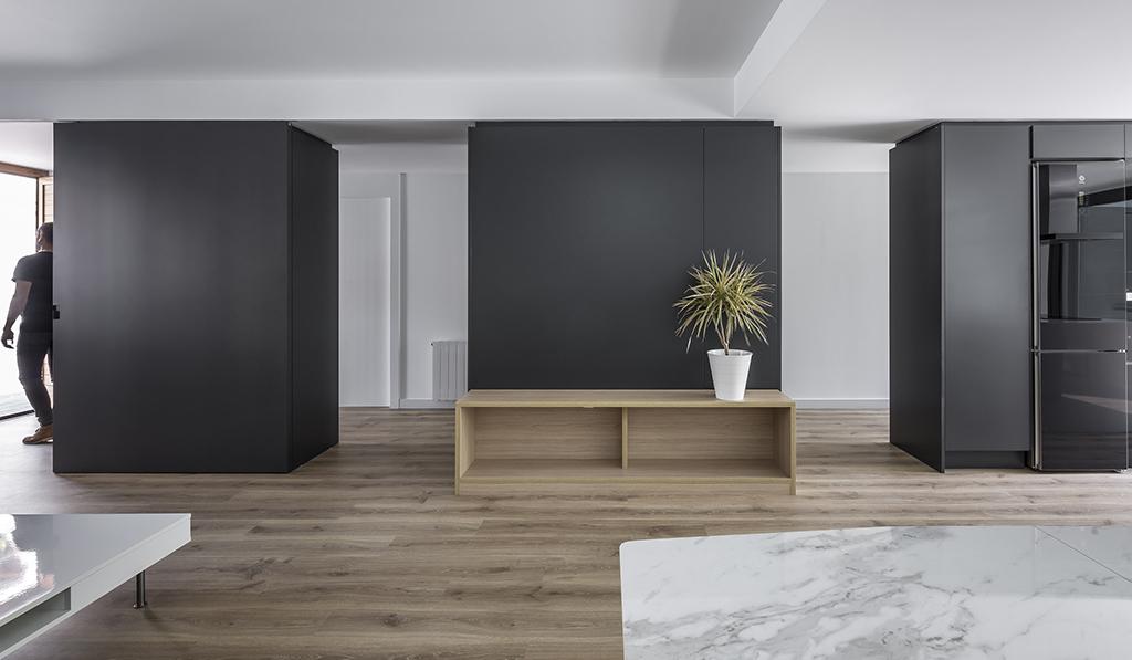 Contrast living room